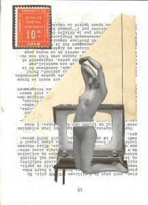 19-Collage papier série femmes 2 18.5x22.5